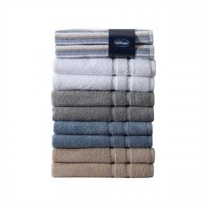 Silentnight 100% Cotton 525GSM 2 Piece Hand Towel Set