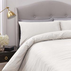 Silentnight Pure Cotton Duvet Cover Set - Cream