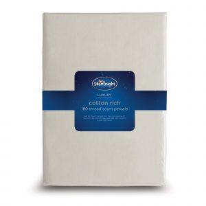 Silentnight Cotton Rich Fitted Sheet - Cream