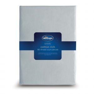 Silentnight Cotton Rich Fitted Sheet - Silver