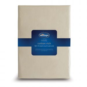 Silentnight Cotton Rich Fitted Sheet - Stone