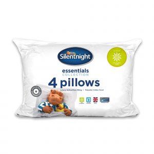 Silentnight Essentials Anti Allergy Plus Pillow - 4 Pack