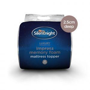 Silentnight Impress Memory Foam Mattress Topper - 2.5cm