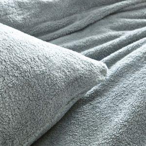 Silentnight Cosy Teddy Fleece Duvet Set - Silver